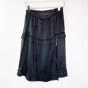 Yves Saint Laurent Black Tiered Ruffle Skirt